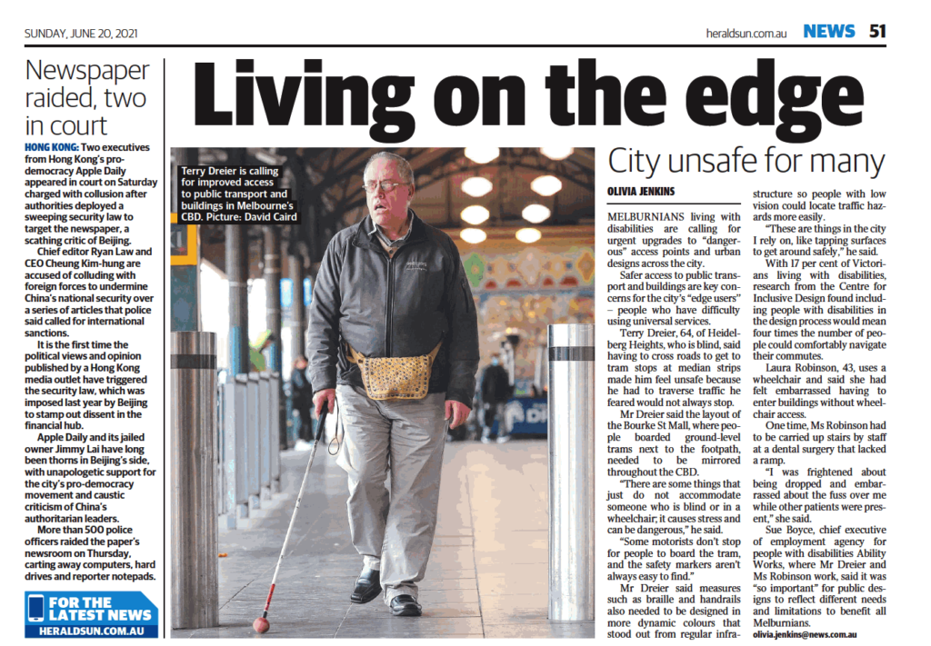 Calling for improved accessibility in cities